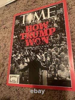 Donald Trump A Signé Time Magazine Autographié Jsa Loa Authentification Président