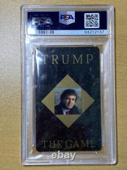 Donald Trump A Signé Trump The Game Casino Playing Card Psa Coa Encapsulé