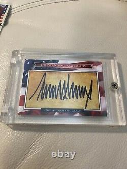 Donald Trump A Signé Une Carte Autographe Américaine Exceptionnelle 2017