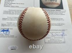 Donald Trump A Signé Une Signature Autographiée Président Baseball Jsa Certifié