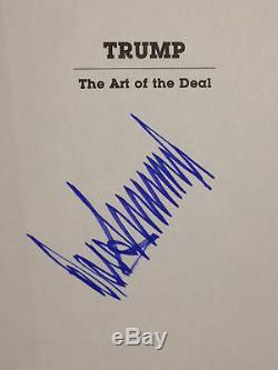 Donald Trump Art Of The Deal 1987 Première Édition Autographiée Et Signée Psa Dna Loa