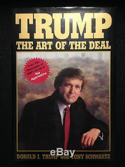 Donald Trump Art Of The Deal Autograph Signature Livre Autographié Signé À Eric