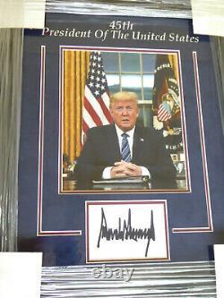 Donald Trump Authentic Signé Affichage Encadré Autographe, U.s. Président, Jsa Loa