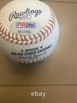 Donald Trump Authentique Signature Complète Signé Lmb Baseball. Psa / Adn. Certifié, Rare