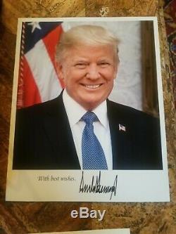 Donald Trump Authentique Signé Lettre Dédicacé Avec Plaqué Or Véritable Image