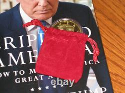 Donald Trump Auto Crippled America 1ère Edition Livre Edition Limitée Avecgold Coin