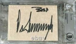 Donald Trump Autograph A Signé Beckett Bas Président Politique