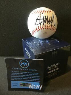 Donald Trump Autograph Baseball & New Display Holder With Coa Hand Signed