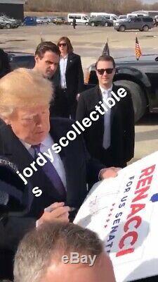 Donald Trump Autographe Renacci Campagne Signe Exact Vidéo Bas Preuve Psa