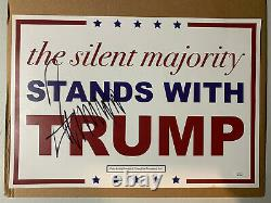 Donald Trump Autographe Signé Président Original Signe De Campagne Jsa Lettre Complète