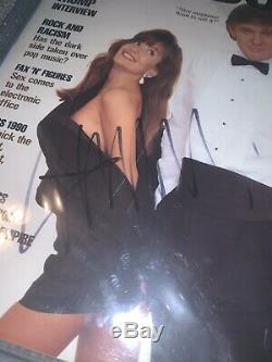 Donald Trump Autographié 1990 Playboy Signé Magazine Bas Beckett