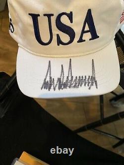 Donald Trump Autographié Chapeau Cap (jsa Certifié)