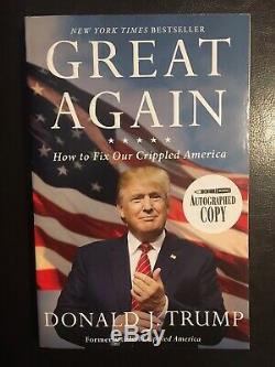 Donald Trump Autographié Copy Grand Livre Encore Une Fois