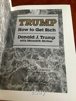 Donald Trump Autographié Livre Easton Realisateurs Comment Enrichissez-withcoa