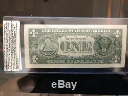 Donald Trump Autographié Signé Dollar Bill Avec Authenticité