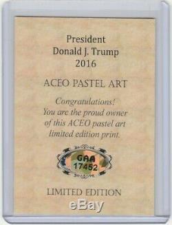 Donald Trump Certifié Carte Autographe Avec La Main Coa Assermentée Signé