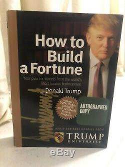 Donald Trump Comment Autographié Signé Construire Une Université Fortune Trump DVD