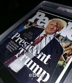 Donald Trump, Couverture Du Magazine People, Dédicacée 2016 Autographiée, Coupe Psa Slabbed