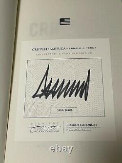 Donald Trump Crippled America Livre Signé Avec Coa