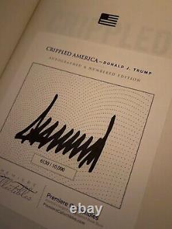 Donald Trump Crippled America Livre Signé Avec Coa Usa! Grande Condition