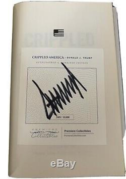 Donald Trump Crippled Amérique Autographié Livre