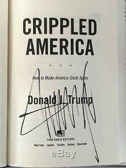 Donald Trump Crippled Amérique Du Livre Signé