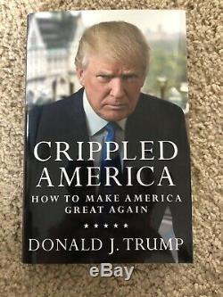Donald Trump Crippled Amérique Ont Signé Book # 7661/10 000 Président