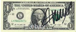 Donald Trump Dédicacé One Dollar Bill Signé Very Nice Et Coa