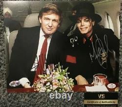 Donald Trump Et Michael Jackson Ont Les Deux Autographes Signés À La Main 8x10 Photo Avec Coa