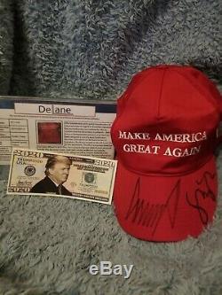 Donald Trump Et Mike Pence Autographié Faire Amérique Great Encore Une Fois Hat (maga)