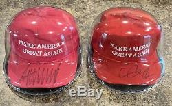 Donald Trump Et Mike Pence Signed Maga Chapeau Officiel Cali Beckett Fame Jsa Femmes