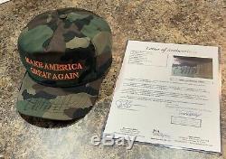 Donald Trump Et Mike Pence Signed Maga Chapeau Officiel Cali Fame Jsa Président Rare