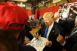 Donald Trump Et Mike Pence Signed Maison Blanche Gravure Jsa Coa Rare