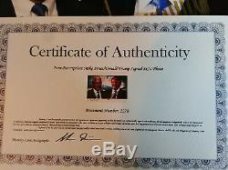 Donald Trump Et Mike Pence Signed Photo Autographiée Avec Coa