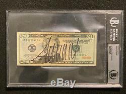 Donald Trump, Facture De 20 $, Dédicacée Vingt Signée Beckett Bas Loa (non Psa Jsa)