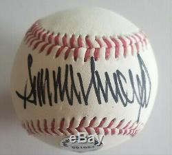 Donald Trump Hand Signed Autographed Baseball Withcoa 12 Photos