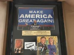 Donald Trump Hillary Clinton A Signé Autograph Puzzle Page Rare W Sous Trump