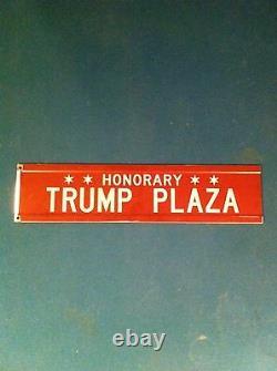 Donald Trump Honorifique Chicago Street Signe Memoribilia
