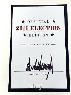 Donald Trump L'art Du Marché Édition Officielle Des Élections De 2016 Signé