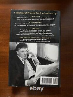 Donald Trump L'art Du Retour Signé 1er 1997 Présidentielle 45e