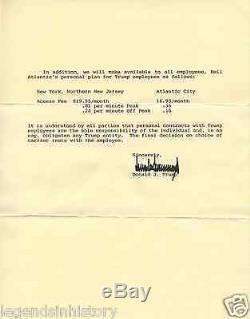 Donald Trump Lettre Signée Et Autographiée