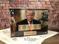 Donald Trump Maga Par Washington Jefferson Lincoln Adams Signé Jsa Psa Loa