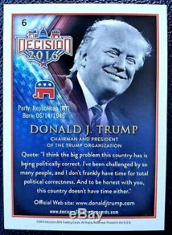Donald Trump Main Authentique Signée Président Sports Card Monnaie Maga