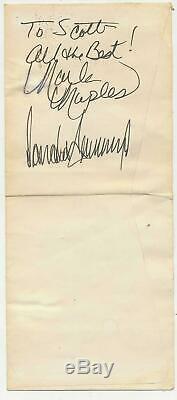 Donald Trump + Marla Maples Autograph Taj Mahal Casino Atlantic City Autosigné