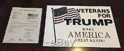 Donald Trump & Mike Pence, Cadeau De Noël Avec Lettre Signée Jsa, Affiche De Campagne Signée Dual
