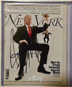 Donald Trump New York Magazine Signée À La Main Autographié, En Personne 2016 Rallye Ohio