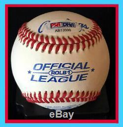 Donald Trump Nom Complet Autographe Baseball! Psa / Adn 995 $ Vente En Quarantaine