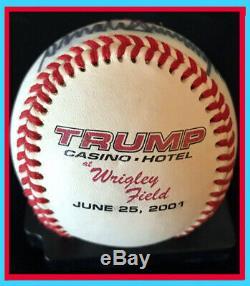 Donald Trump Nom Complet Autographe Baseball! Psa / Vente Adn 24 Heures 990 $