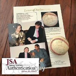 Donald Trump & Oj Simpson Jsa Loa Proof Autograph Signed Rawlings Baseball