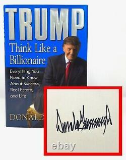 Donald Trump Pense Comme Un Milliardaire Signé 1er 1er Présidentiel 45e